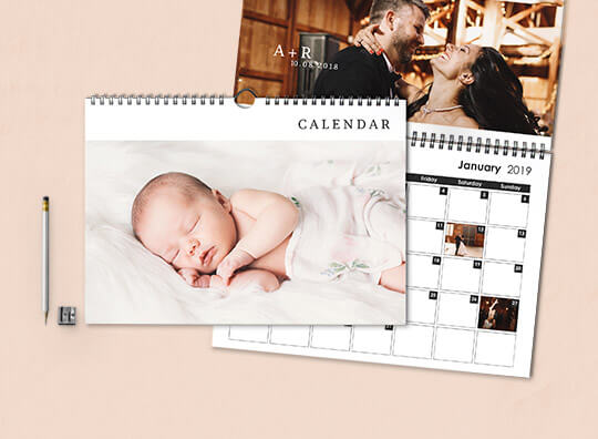 Double page wall calendars